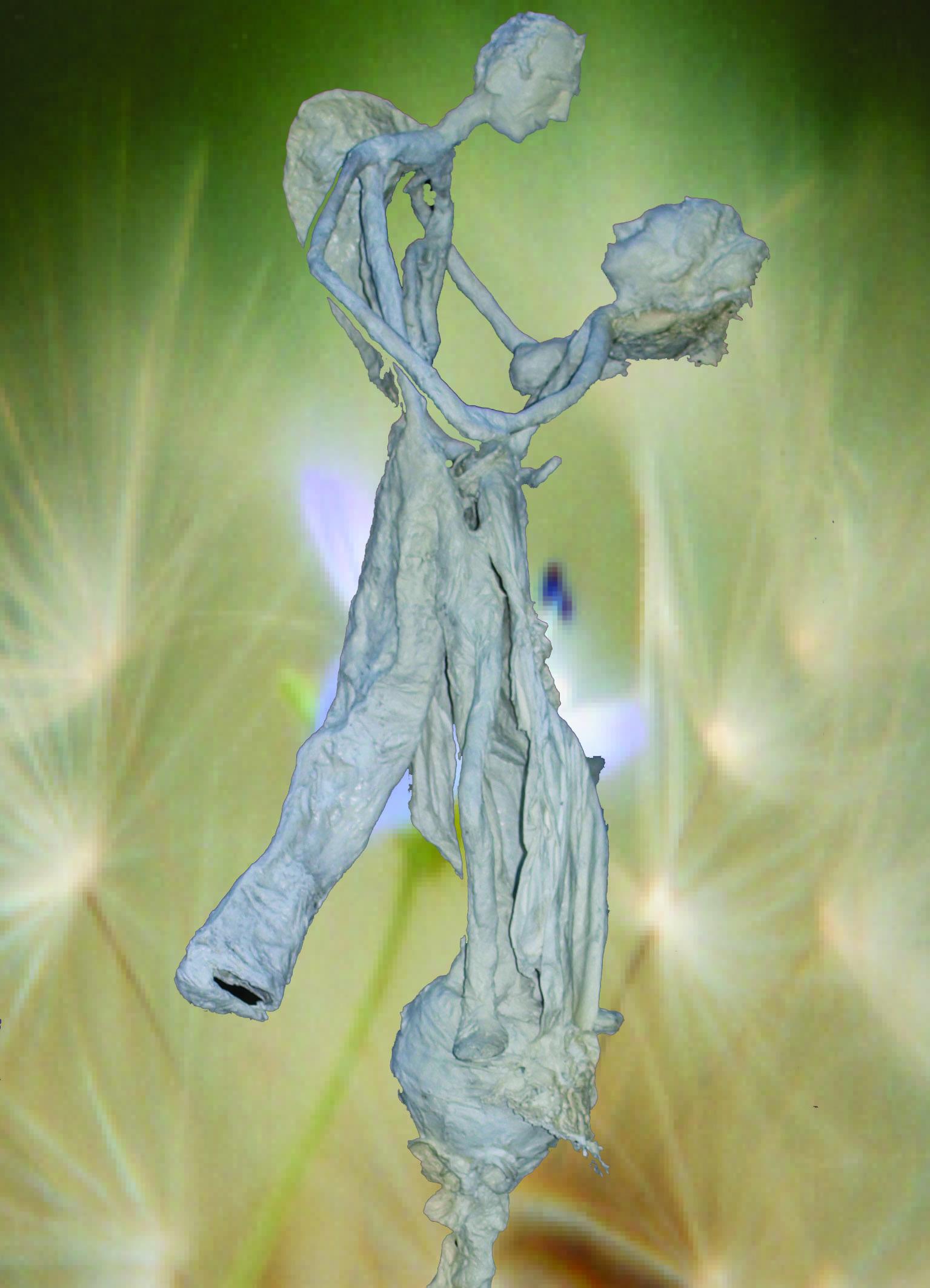 Der Tanz    Skulptur aus er Serie geflügelte Wesen