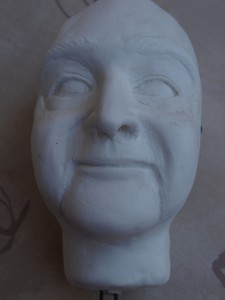 So sieht ein Kopf in rohform aus